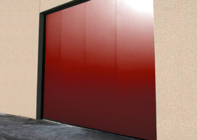 1 - Portone scorrevole industriale ATLANTE - Grigio RAL 9006 con vetrature - 02 (3)