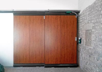 1 - Portone scorrevole industriale ATLANTE - Grigio RAL 9006 con vetrature - 02 (5)