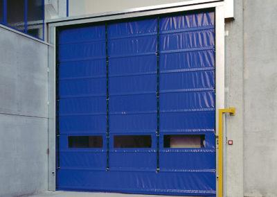 Porta rapida ad impacchettamento FULMINE - Blu RAL 5002 - 02