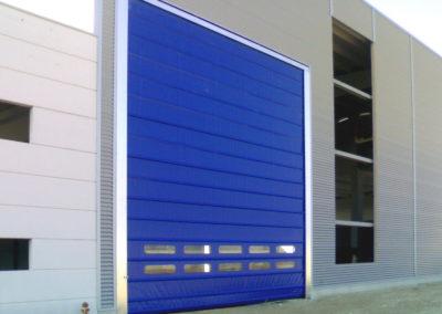 Porta rapida ad impacchettamento FULMINE - Blu RAL 5002 - 03