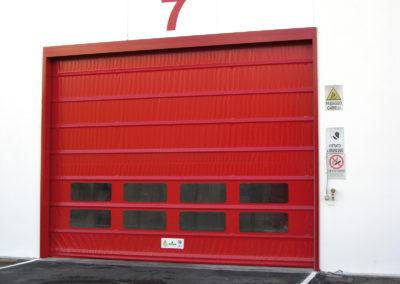 Porta rapida ad impacchettamento FULMINE - Rosso RAL 3002