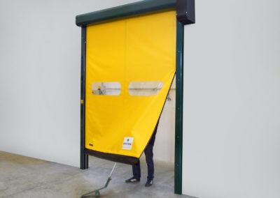 Porta rapida autoriparante ad avvolgimento LAMPO - Giallo RAL 1003