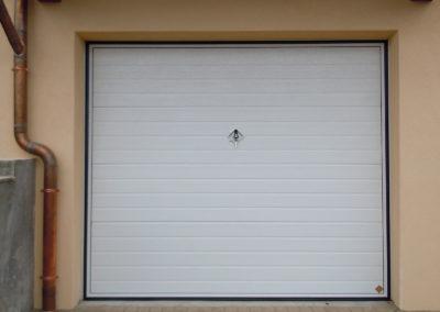 Portone basculante da garage SWING - Woodgrain bianco C81