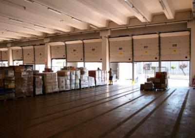 Portone sezionale industriale CARGO - Stucco bianco C21 - 04