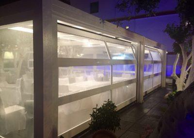 Portone sezionale vetrato LUX - Bianco C81 - 02
