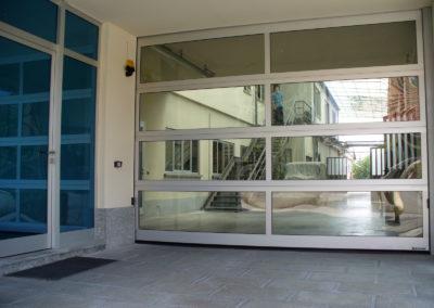 Portone sezionale vetrato LUX - Ossidato naturale - 02